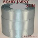 Tasiemka satynowa 25mm kolor 8136 szary jasny