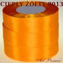 Tasiemka satynowa 6mm kolor 8013 ciepły żółty