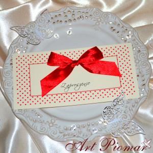 Zaproszenie ślubne Kropeczki