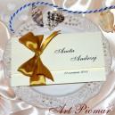 Zaproszenie ślubne Magnolia z kokardą