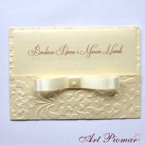 Zaproszenie ślubne Madzia