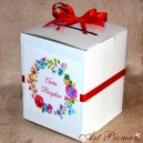 Pudełko na koperty kwiatowe wianek