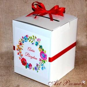 Pudełko na koperty kwiatowe