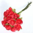 LILIOWE różyczki papierowe 1cm 12szt.