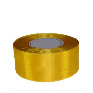 Tasiemka satynowa 50mm kolor 8012 żółta