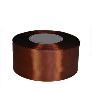 Tasiemka satynowa 50mm kolor 8134 jasny brąz