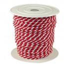 Sznurek oplatany 3,2mm czerwono-biały ROLKA 25MB