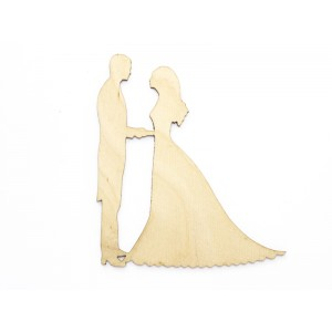 Dekor ślubny - PARA MŁODA 6 CM