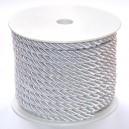Sznurek oplatany biały 7 mm / 13,5 mb
