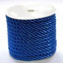 Sznurek oplatany niebieski 7 mm / 13,5 mb