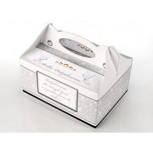 Pudełko na ciasto CZARNO-BIAŁE