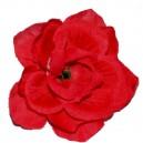 RÓŻA MINI CZERWONA- kwiatuszki ozdobne 12szt.