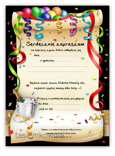Zaproszenia Na 18 Urodziny Osiemnastkę Dużo Wzorów